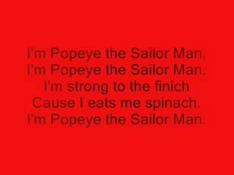 Popeye Theme Song Youtube