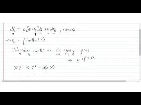 Vasicek Stochastic Differential Equation - Complete derivation