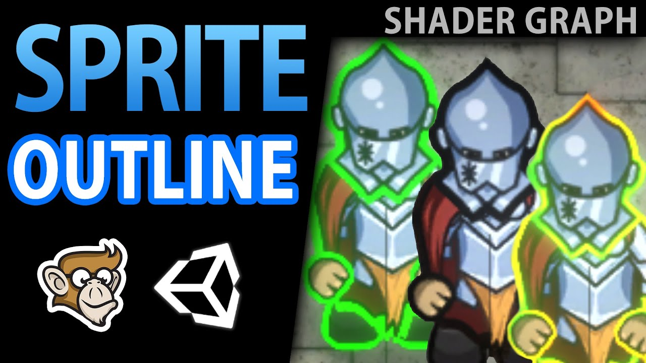 Sprite Outline (Animated!) - 2D Shader Graph Tutorial