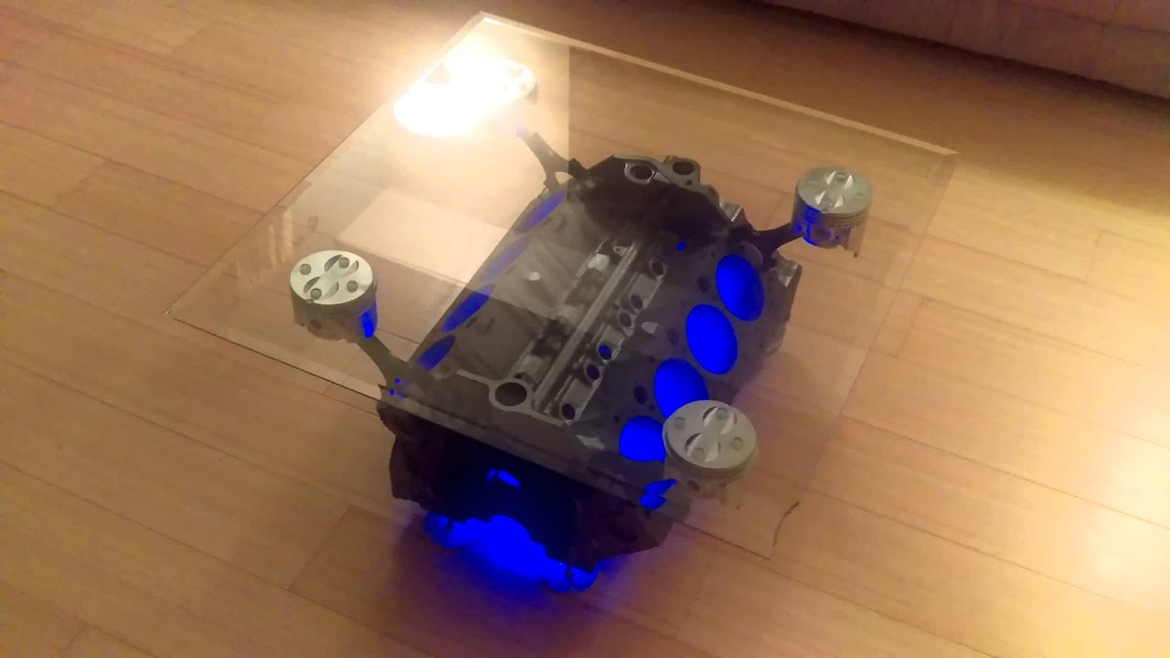 My V8 engine coffee table