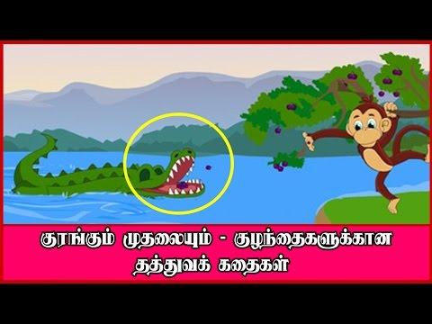 குரங்கும் முதலையும் - குழந்தைகளுக்கான தத்துவக் கதைகள் | The Monkey And The Crocodile Tamil Story