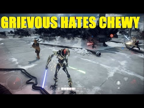 Star Wars Battlefront 2 - GENERAL GRIEVOUS HATES CHEWY! DO YOU? (2 games) thumbnail