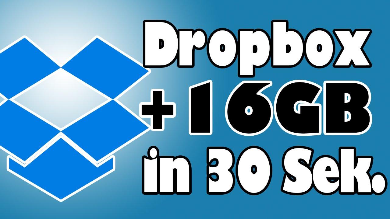 dropbox +16gb in 30 sekunden - 2017 - [hd, deutsch] - youtube, Einladung