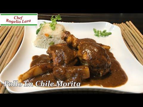 Pollo En Chile Morita,Receta Deliciosa !!