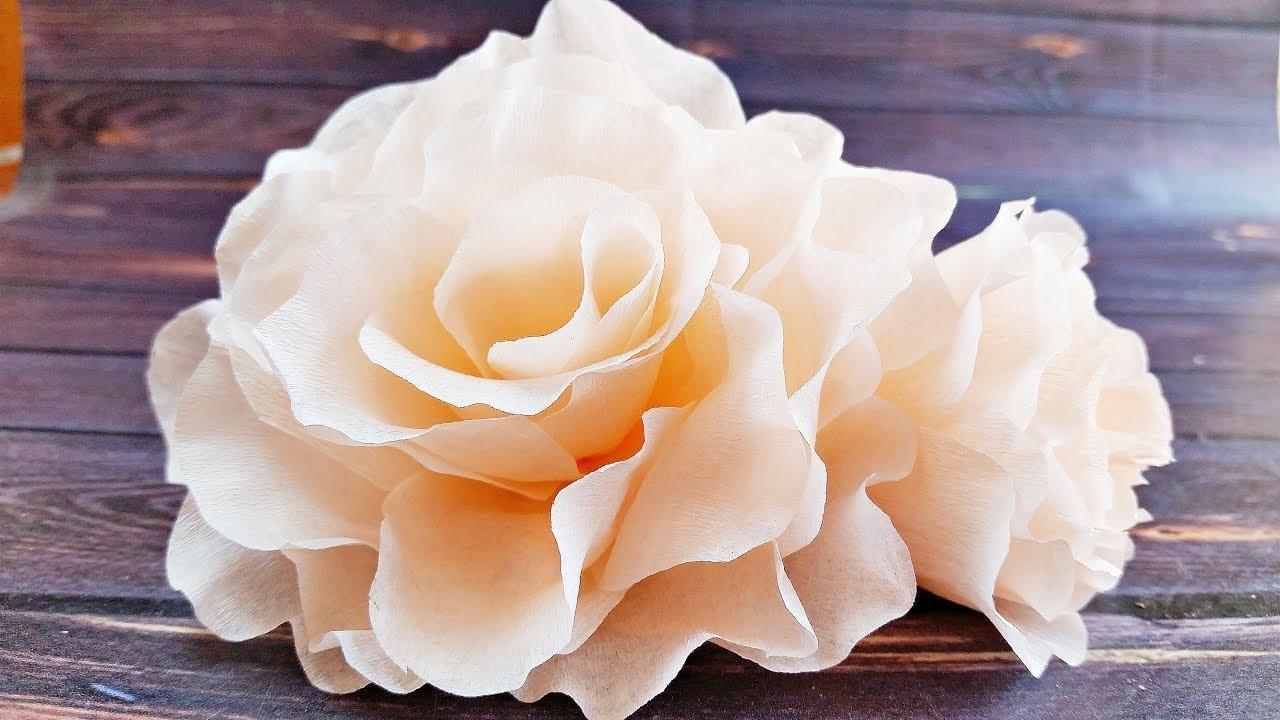 Como Hacer Flores Rosa De Papel Crepe Faciles De Hacer Paso A Paso