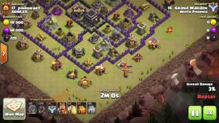 Clash of Clans: Archer Queen outside her range radius