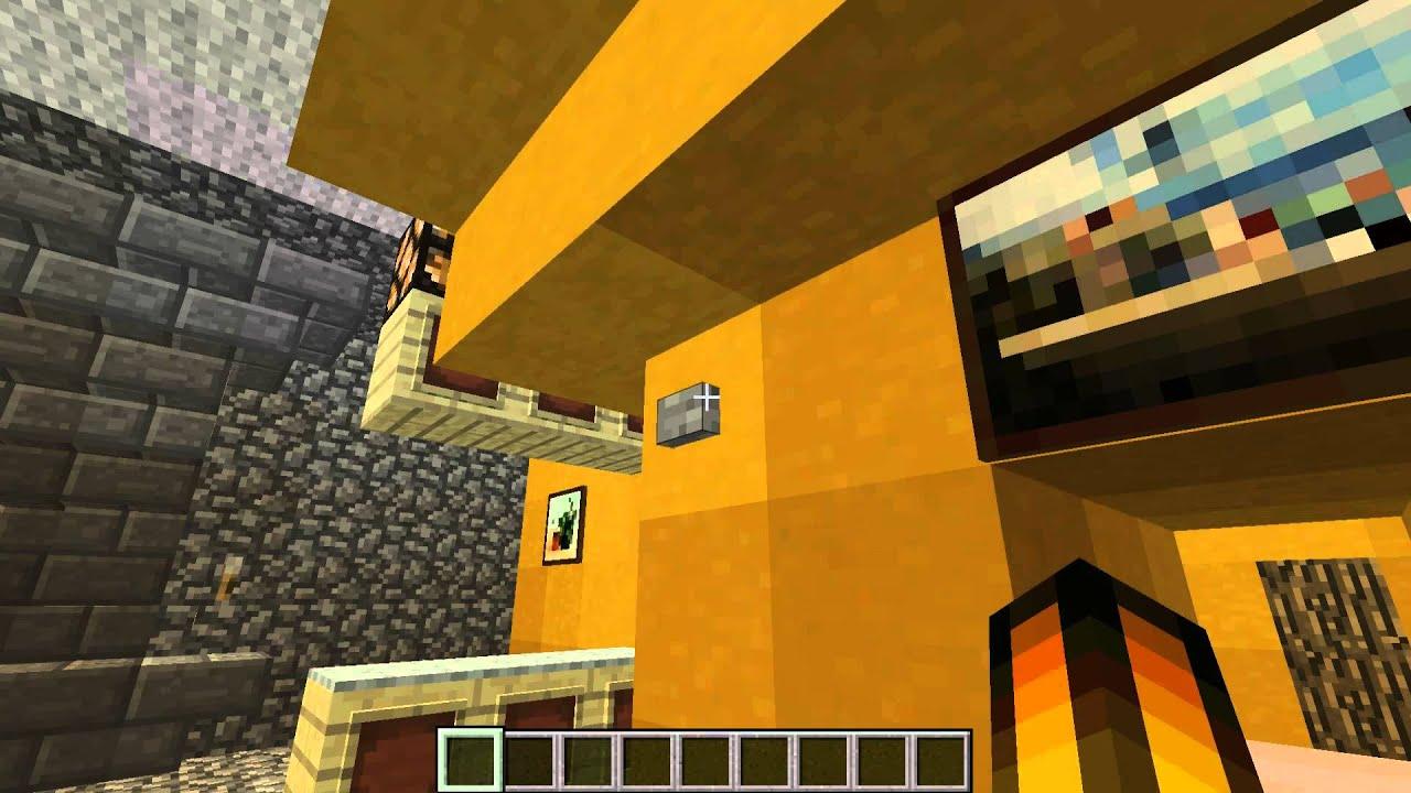 Minecraft 1 6 2 piston house wohnzimmer tisch download youtube - Minecraft wohnzimmer ...