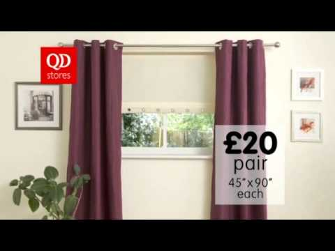 Curtains commercial QD Stores Group ITV  Anglia production 2010
