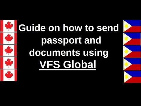 VFS Global (Sending passport and documents using VFS)