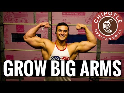 6 EXERCISES TO GROW ARMS | IF IT FITS YOUR MACROS CHIPOTLE EDITION | NUTRITION