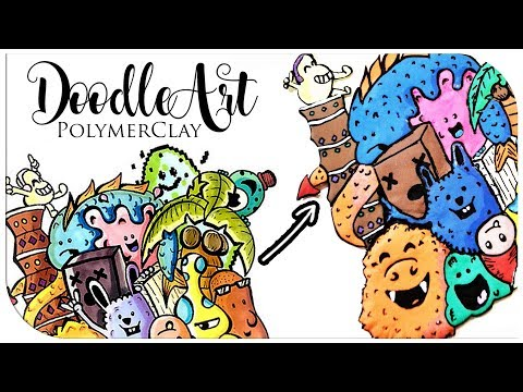Comment DOODLE ART EN FIMO - CHALLENGE CHADESSIN | TUTORIAL POLYMERCLAY DOODLE ART ?