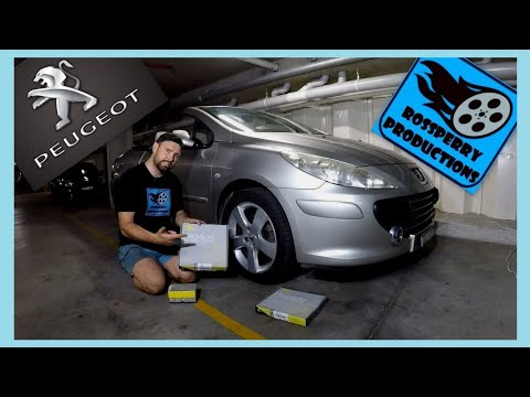 Peugeot 307cc How To Replace Front Brake Pads & Disc Rotors DIY Replacement Tutorial