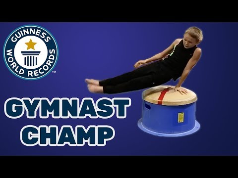 Most double leg circle rotations on a mushroom trainer in one minute – Guinness World Records