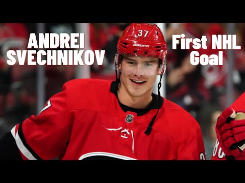Andrei Svechnikov #37 (Carolina Hurricanes) first NHL goal 07/10/2018