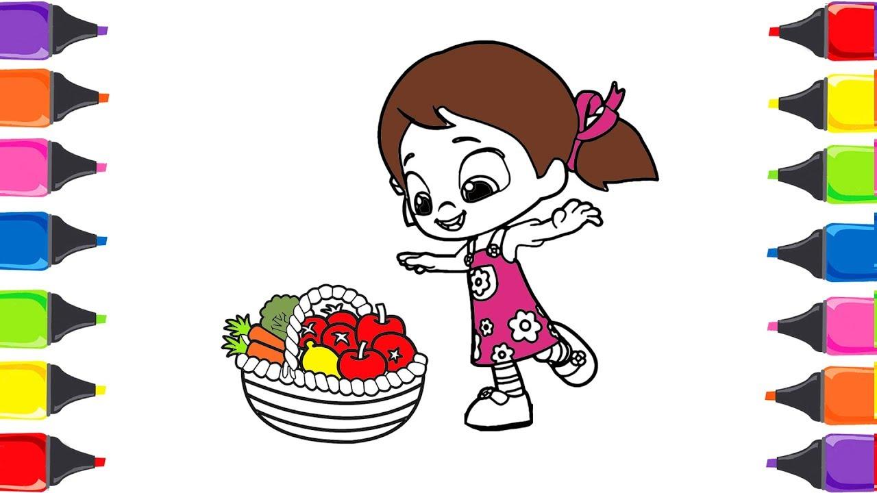 Niloya çizgi Film Meryveler Boyama Meyveleri öğreniyorum Youtube