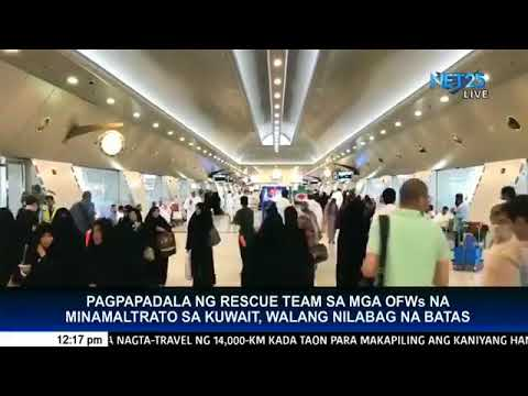 No law was violated by PHL team in rescuing distressed OFWs in Kuwait, says solon