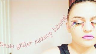 Pride glitter tears makeup tutorial