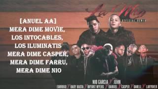 La Mia Remix (Letra) - Nio Garcia Ft. Juhn, Farruko, Baby Rasta, Darkiel, Darell Lary Over & Mas