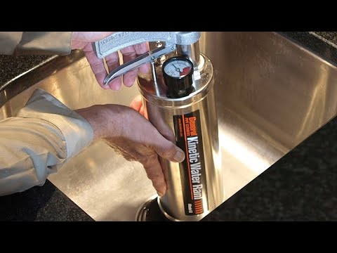Kinetic Water Ram Clears Clogged Drains Fast General
