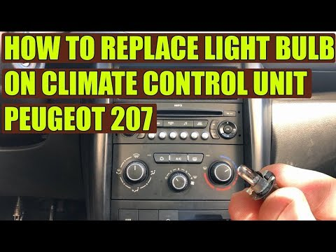 TUTORIAL: How to replace climate control panel light bulb Peugeot 207 in 10 steps