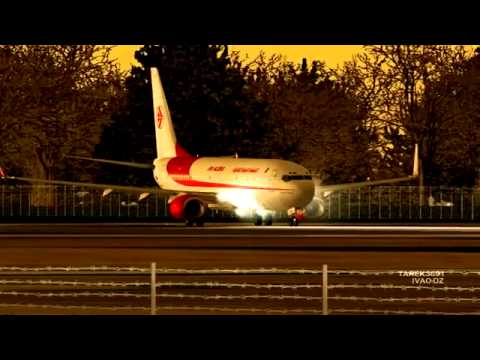 HD] Air Algerie Boeing 737 800 takeoff at Lille Lesquin International Airport LFQQ