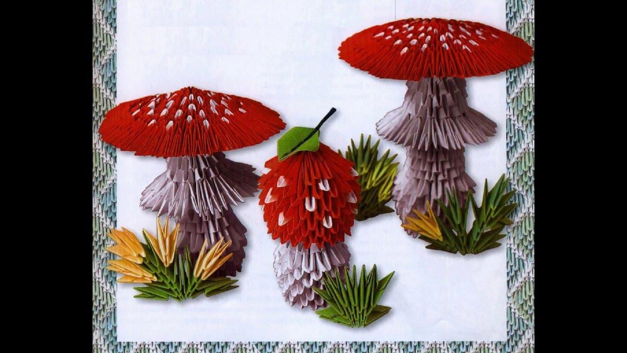 Оригами гриб мухомор схема фото 443