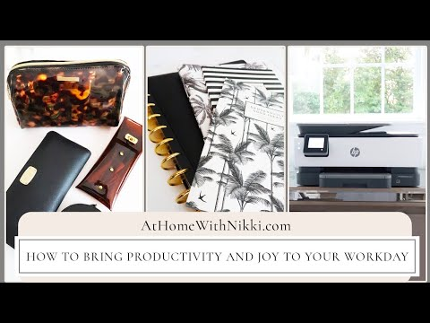 HOME OFFICE ORGANIZING TIPS | How to bring productivity and joy to your workday at home