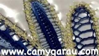 Umplutura frunze laseta #29/Romanian point lace