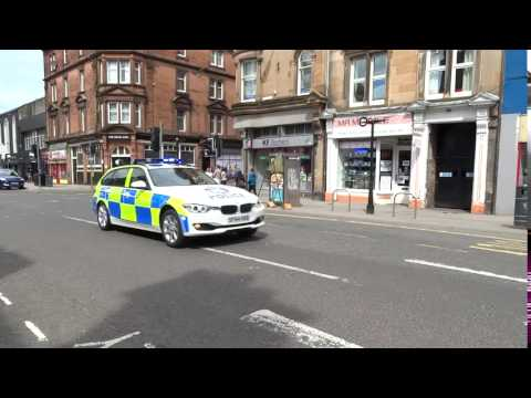 Police Car Responding To Emergency South Street Perth Perthshire Scotland