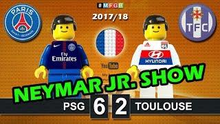 Paris Saint-Germain PSG vs Toulouse 6-2 ● Ligue 1 ● Neymar Jr. goal highlights Lego Football film