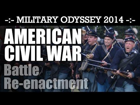 American Civil War Battle Reenactment! EPIC! Military Odyssey 2014 ACW   HD Video