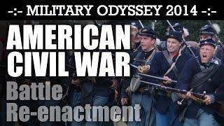 American Civil War Battle Reenactment! EPIC! Military Odyssey 2014 ACW | HD Video