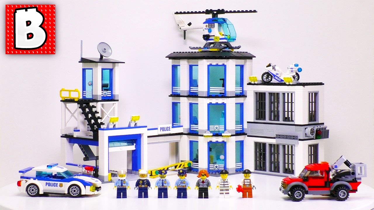 LEGO City 2017 Police Station, Set 60141 | Unbox Build ...