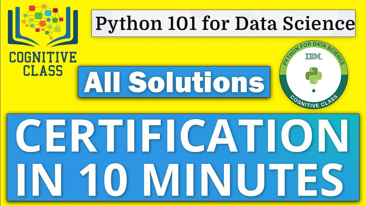 Python For Data Science Cognitive Class Answers | IBM Free Course | Get Certification In 10 Minutes✅