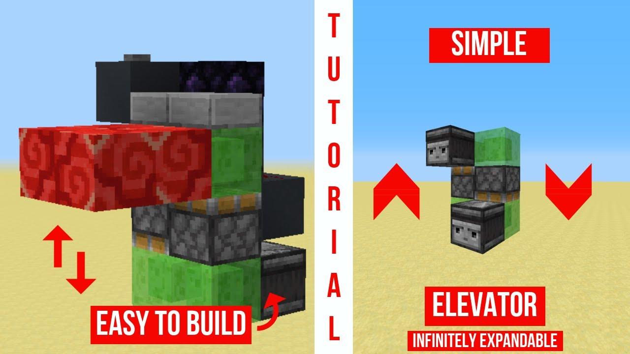 minecraft elevator tutorial easy