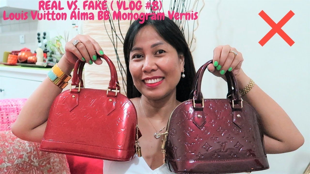 Real Vs Fake Louis Vuitton Alma Bb Monogram Vernis Leather Vlog 8 Laarni B N Style Youtube