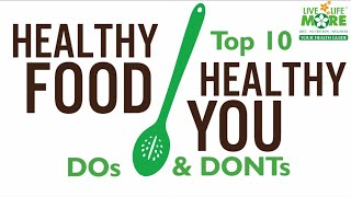 Healthy eating tips | do's and don'ts ...