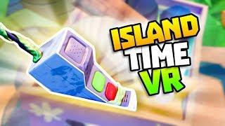 THE SECRET ISLAND PHONE! - Island Time VR Gameplay - VR HTC Vive Gameplay