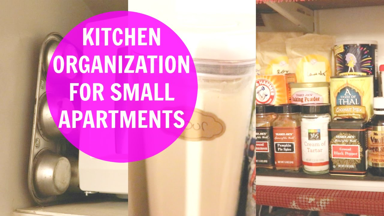 Kitchen Organization Ideas For Small Apartments! - YouTube