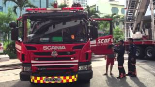SCDF Fire Station Open House - Fire Engine Siren