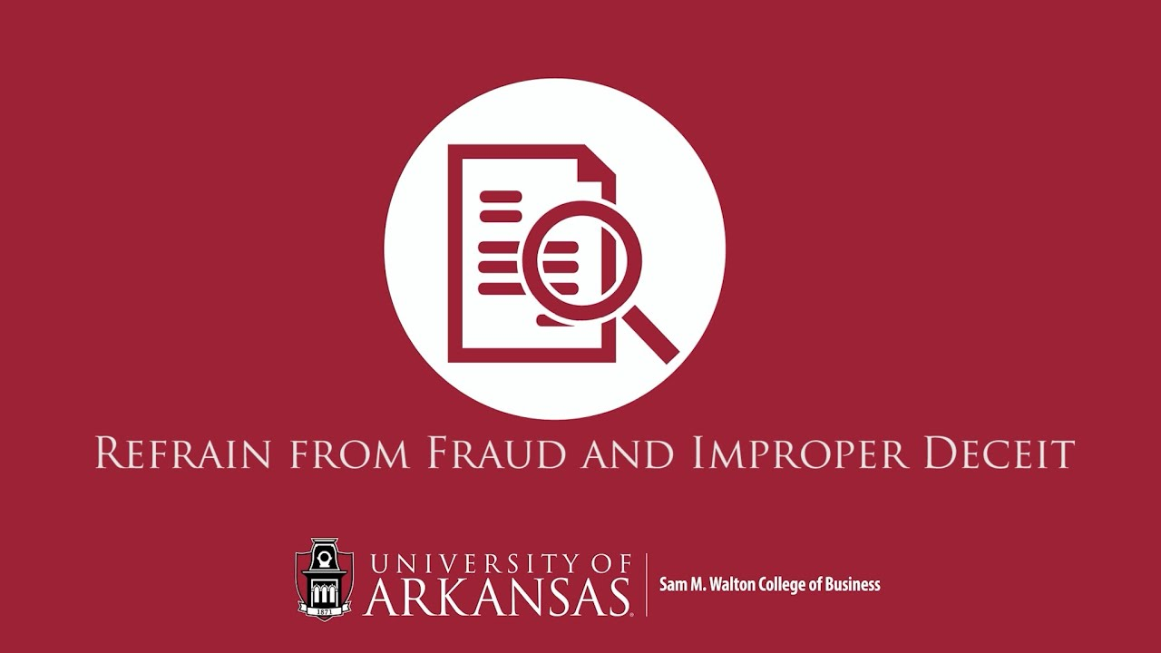 Refrain from Fraud and Improper Deceit