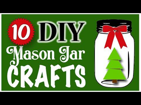 DIY Mason jar 10 EASY Mason Jar Crafts! 🎄 CHRISTMAS DIY | Dollar Tree DIY