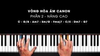 PIANO ĐỆM HÁT | VÒNG HÒA ÂM CANON| PHẦN 2: PHẦN NÂNG CAO