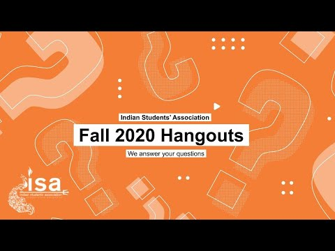 ISA-ASU Hangouts Session Fall 2020