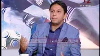لحظة سحب الفائزين فى مسابقة الكرة والجماهير مع محمد فاروق