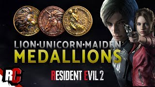 Resident Evil 2 | All 3 Medallion Locations (How to get Lion, Unicorn & Maiden Medallion)