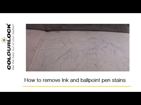 Ink, ballpoint pen and biro stains removal / Ink stain cleaning of Alcantara and Microfiber