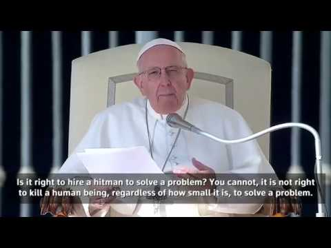 Pope compares abortion to hiring a 'hitman'