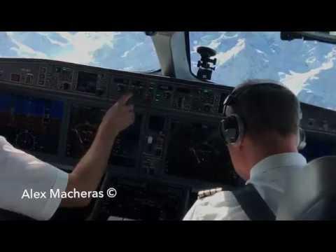 INSIDE EMPTY SWISS C-SERIES & FLIGHT DECK EN ROUTE TO ST. MORITZ