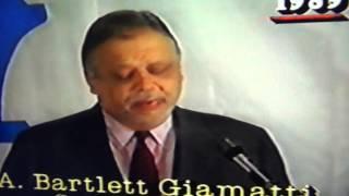 Bartlett Giamatti Bans Pete Rose From Baseball For Betting On Baseball!